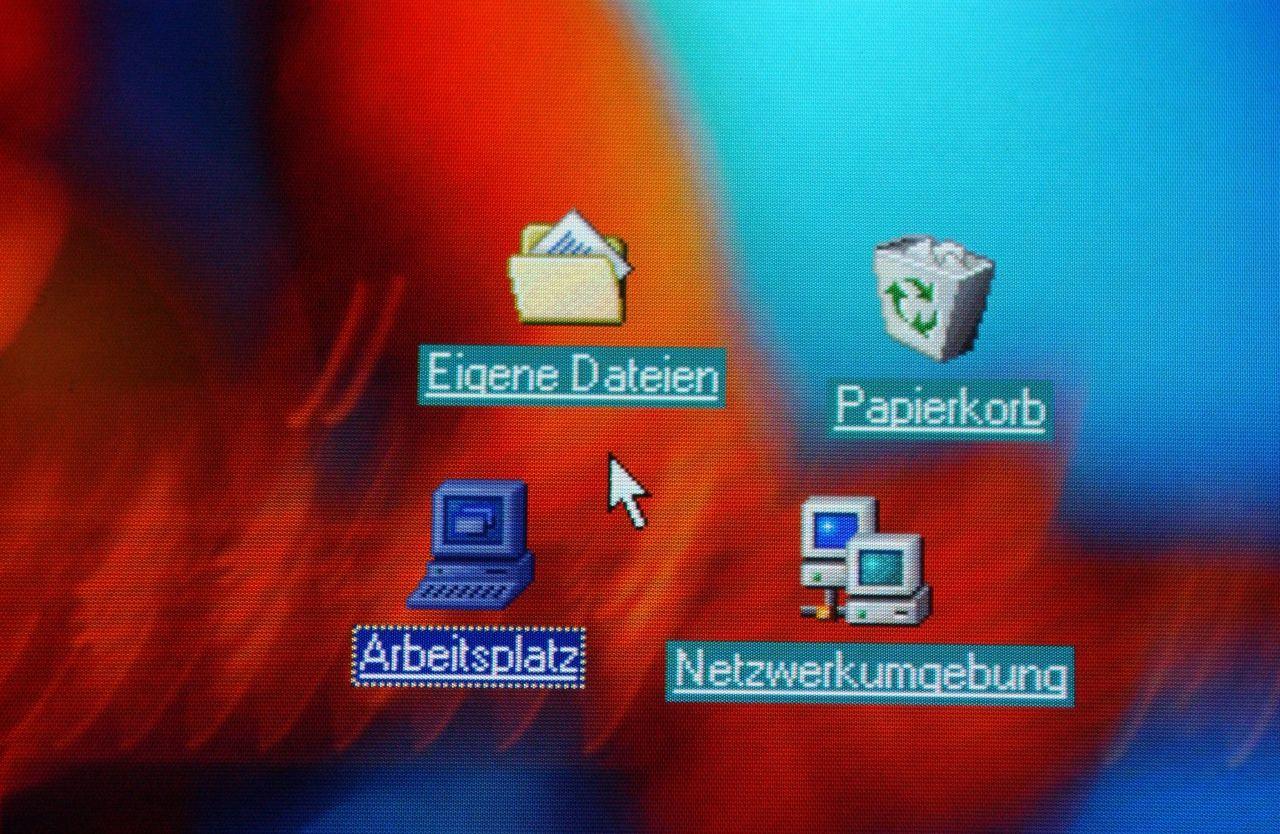 Computer Papierkorb um Dateien zu löschen
