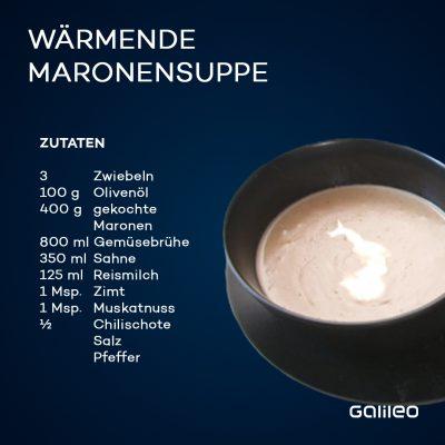 Das Rezept für eine wärmende Maronensuppe.