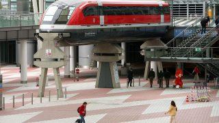 Transrapid im Münchener Flughafen