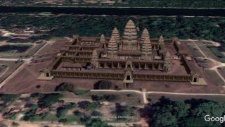 Eine 3-D-Simulation des Tempels Angkor Wat in Kambodscha.