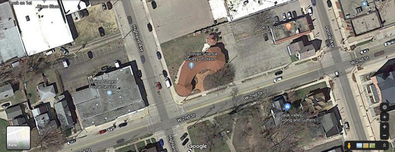 Ein Gebäude in Dixon sieht aus wie ein Penis.