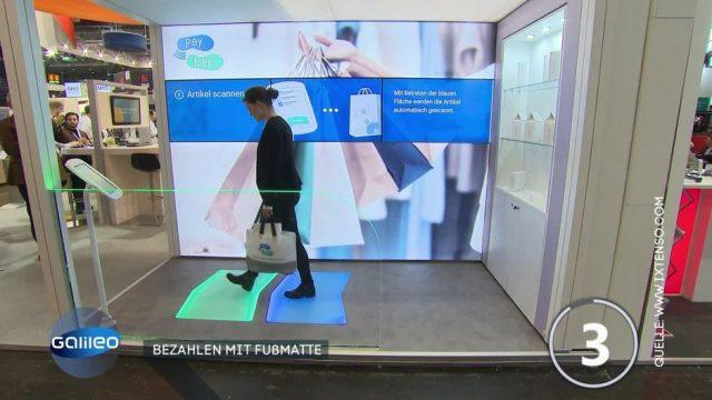 Kein Schlangestehen an der Kasse: Bezahlen in Zukunft bald per Fußmatte möglich?