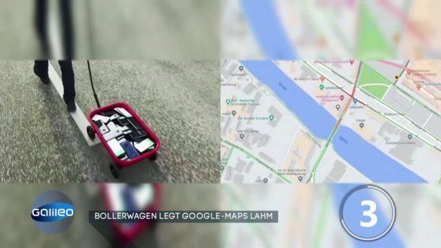 Mann verursacht Stau auf Google Maps - mit einem Bollerwagen!