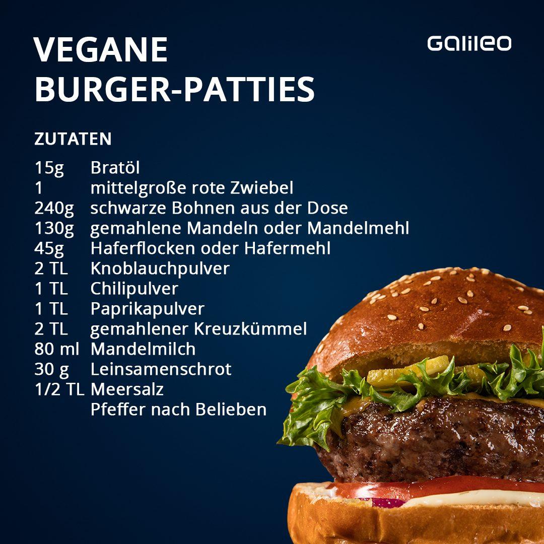Vegane Burger-Patties aus schwarzen Bohnen