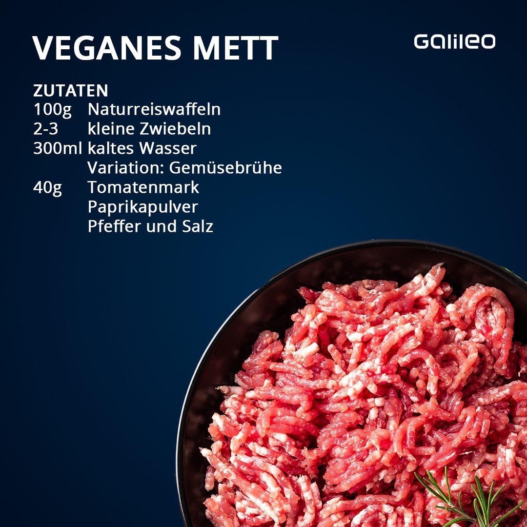 Veganes Mett aus Reiswaffeln