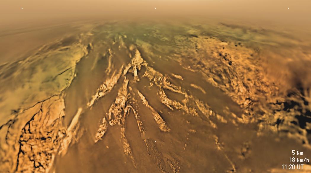 Landeanflug auf Titan