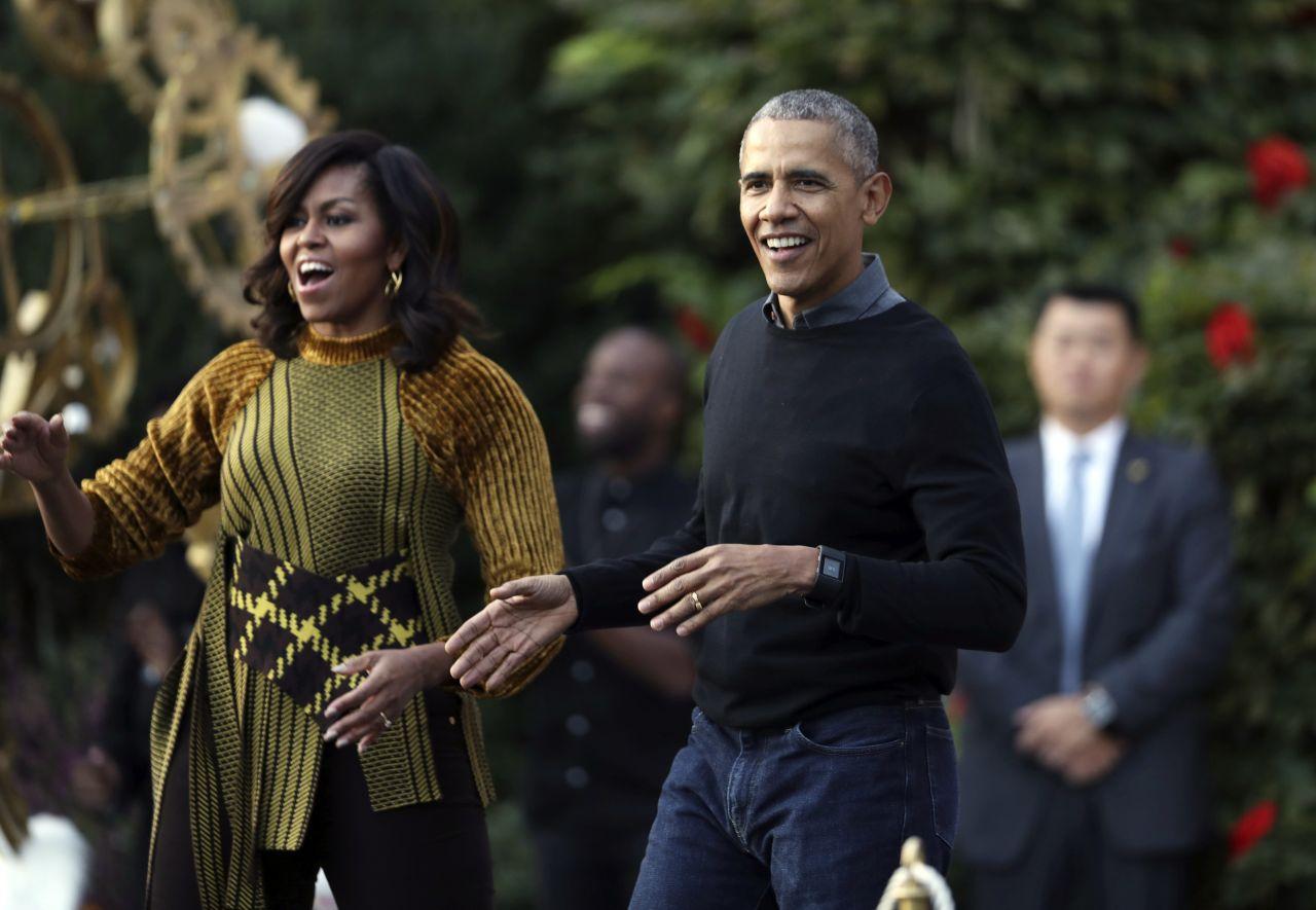 Barack Obama mit seiner Ehefrau Michelle.