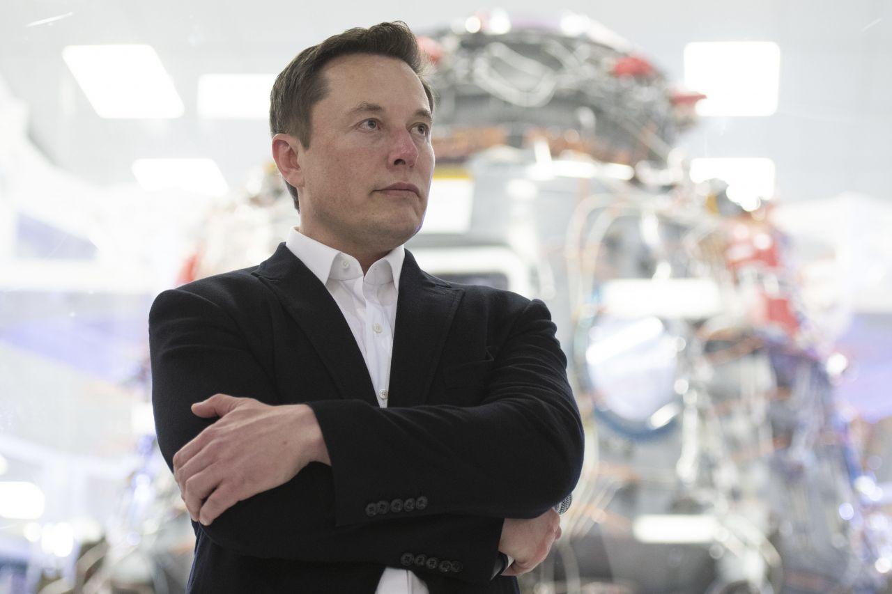 Elon Musk bei einer SpaceX-Präsentation.