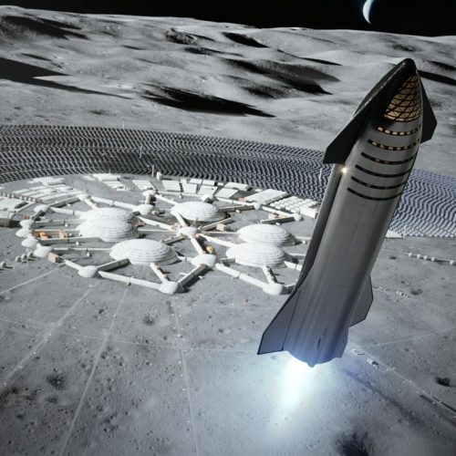 SpaceX Landung auf dem Mond