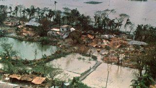Der Wirbelsturm Gorky löste 1991 eine verheerende Sturmflut in Bangladesch aus.
