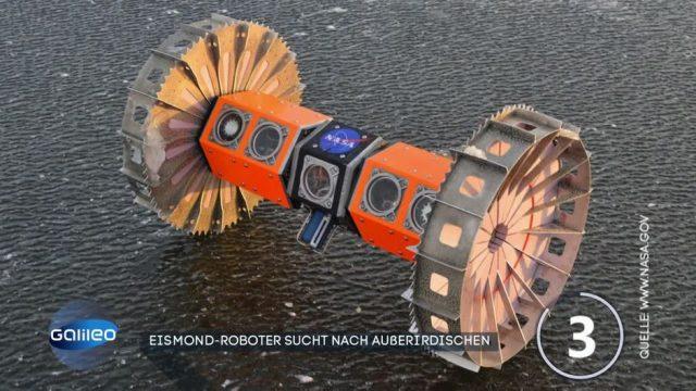 Eismond-Roboter soll nach Außerirdischen suchen