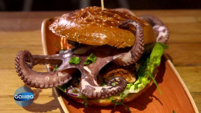 Oktopus, Maultaschen, Käsefondue: Wie schmecken die neuen Trend-Burger?