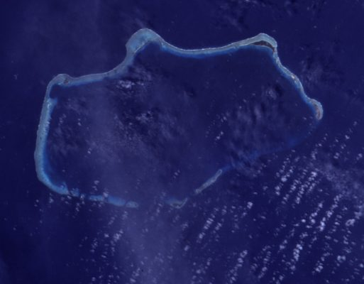 Das Bikini-Atoll von oben