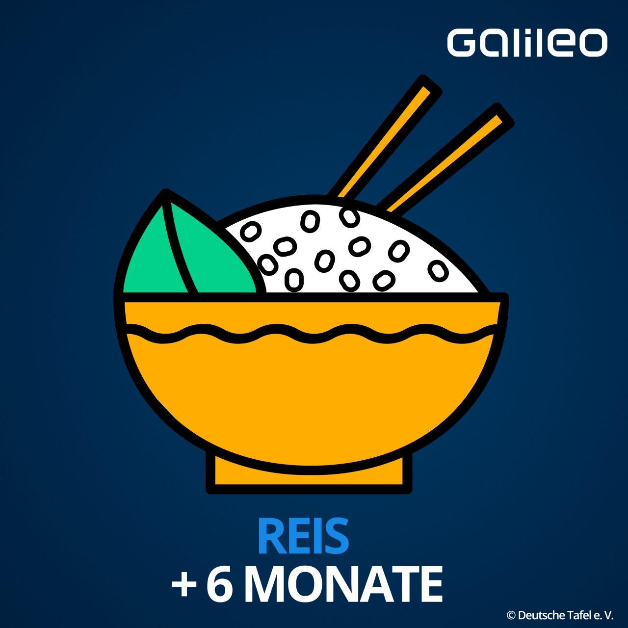 Mindesthaltbarkeitsdatum Reis