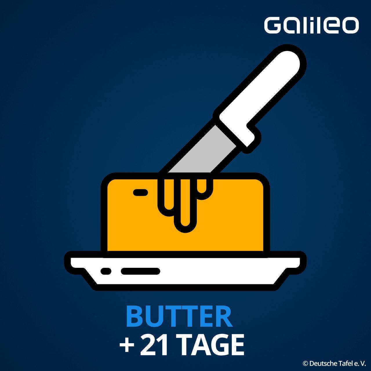 Mindesthaltbarkeitsdatum Butter