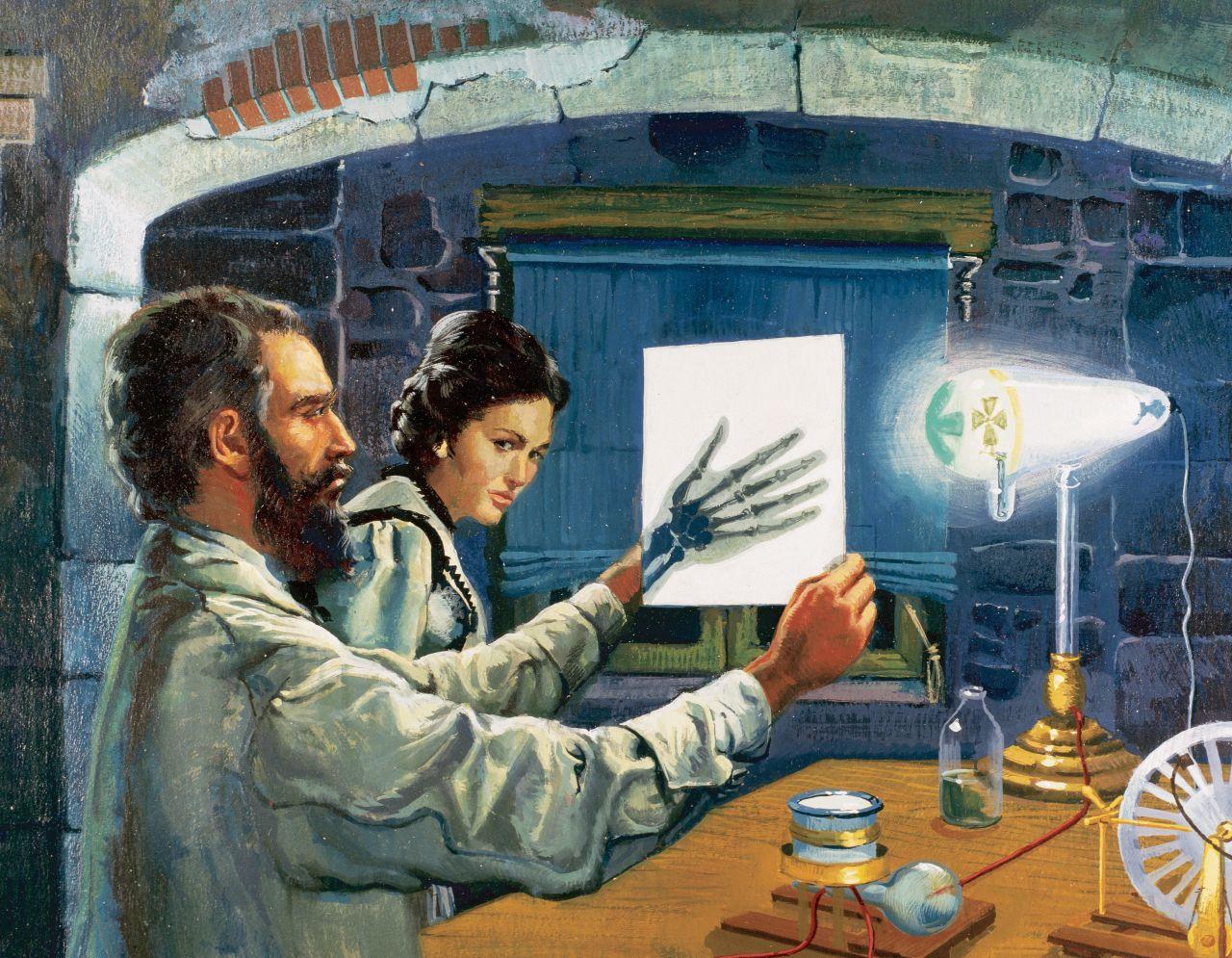 Wilhelm Röntgen entdeckt die nach ihm benannten Röntgen-Strahlen.