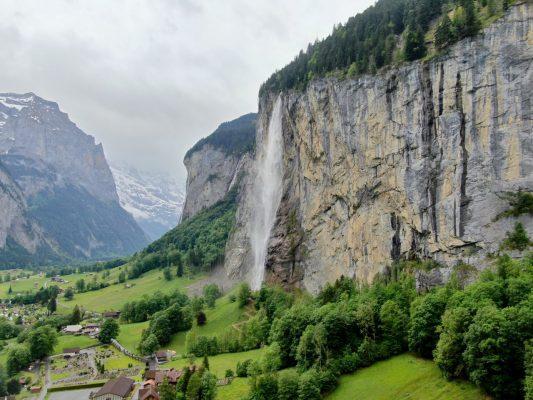Das Tal in Lauterbrunnen.