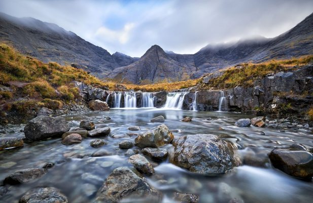 Fairy Pools auf der Isle of Skye, Schottland.