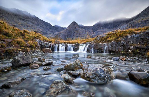 Fairy Pools auf der Isle of Skye, Schottland.