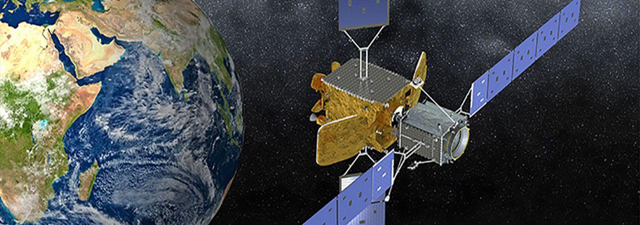 Satelliten mit leeren Treibstofftanks