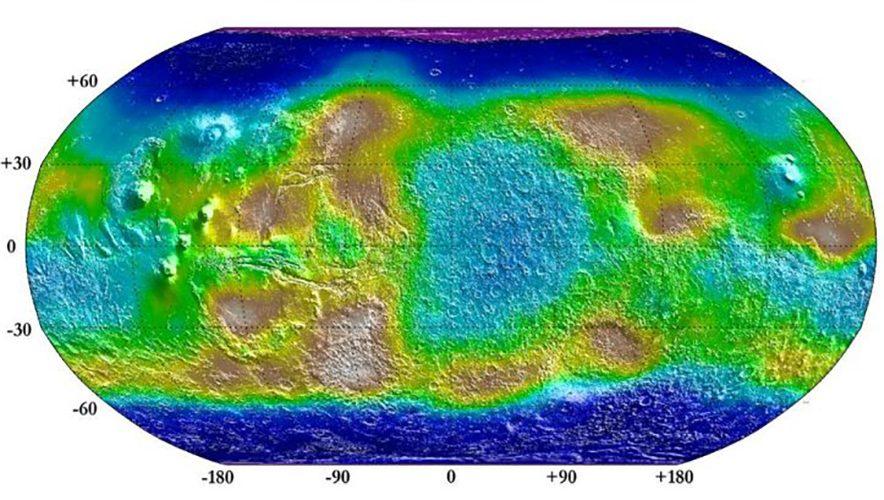 Mars Wasser Oberfläche