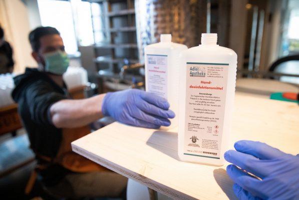 Aktuell sehr gefragt: Desinfektionsmittel