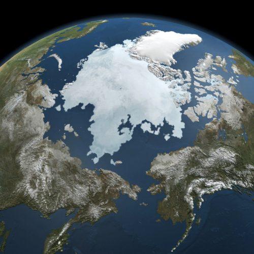 ARCHIV - Die Die Nasa-Illustration vom 03.09.2010, die aus mehereren Bildern des Aqua Satelliten generiert wurde zeigt die Eisausdehnung in der Arktis. Das Eis in der Arktis wird nach Schätzung von US-Forschern in 20 bis 30 Jahren während der Sommermonate komplett wegschmelzen. «Allen Anzeichen zufolge wird das Meereis über die kommenden Jahrzehnte weiter zurückgehen», teilte das Schnee- und Eis- Datenzentrum (NSIDC) in Boulder (US-Staat Colorado) am Montag (Ortszeit) mit. Das lasse sich auch aus aktuellen Beobachtungen in diesem Sommer rund um den geografischen Nordpol wieder schließen.Foto: NASA Goddard's Scientific Visualization Studio |