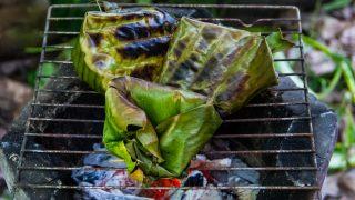 Bananenblätter zum Grillen