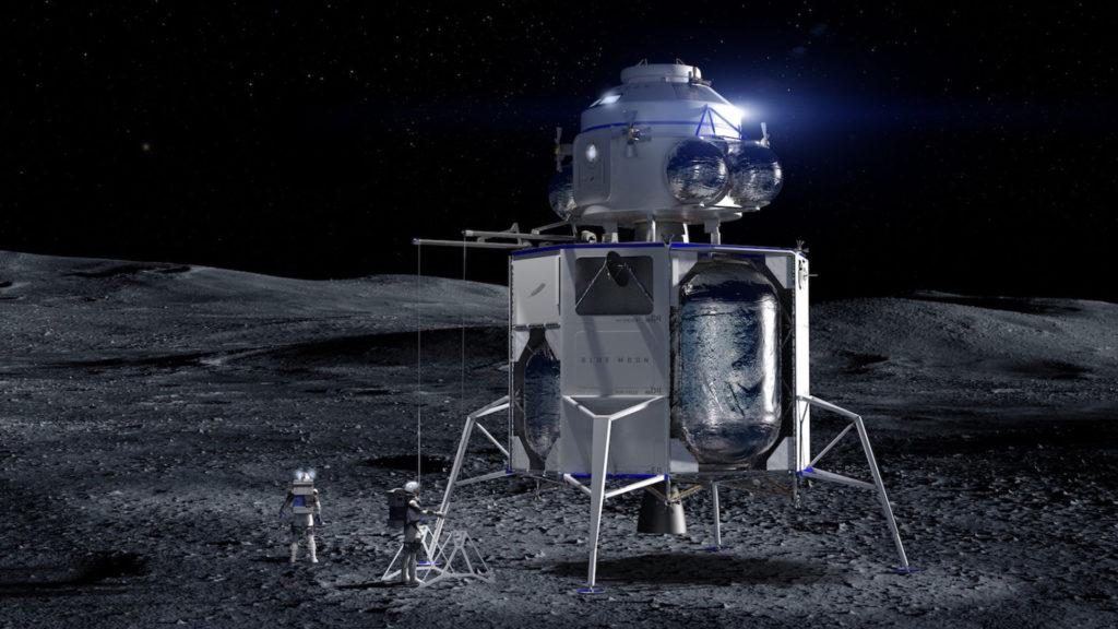 Blue Moon, die Mond-Landefähre von Jeff Bezos