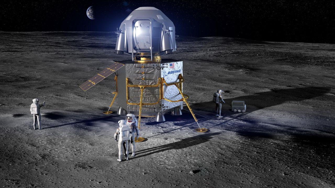 Die Landefähre der NASA auf dem Mond