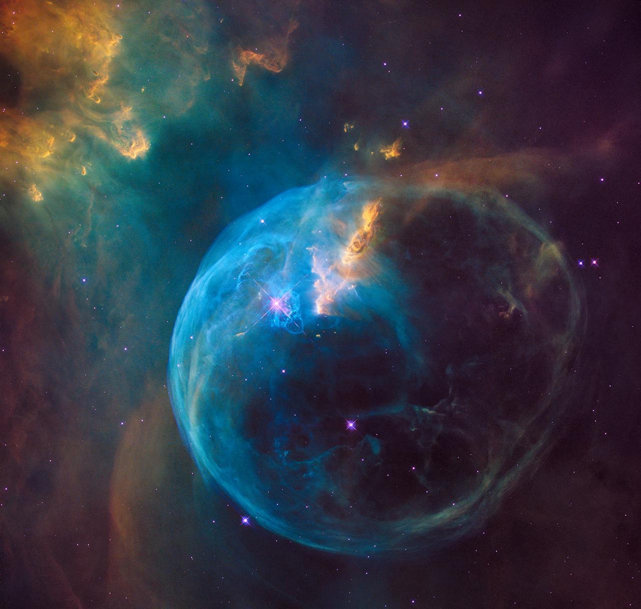 Bubble Nebula Hubble Foto