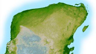 Das hier ist wohl der berühmteste Krater der Welt. Der Chicxulub-Krater ist etwa 180 Kilometer groß und liegt auf der mexikanischen Halbinsel Yucatán. Der Meteorit, der hier Einschlug war wohl für das Aussterben der Dinosaurier verantwortlich.