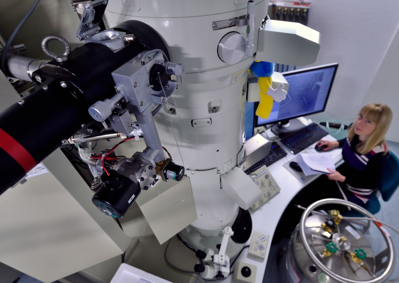 Elektronenmikroskop kann Viren optisch darstellen