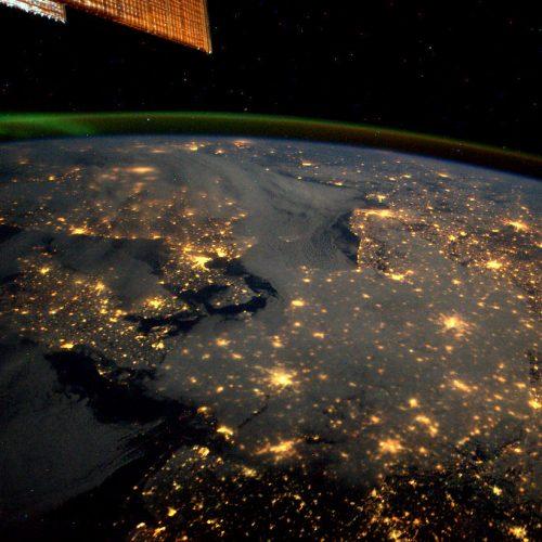 Satellit über Europa