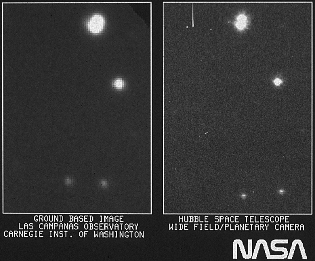 Erstes Foto Hubble Teleskop
