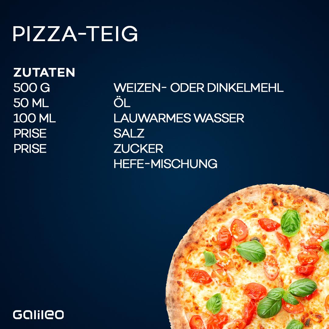 Diese Zutaten brauchst du für einen selbstgemachten Pizza-Teig.