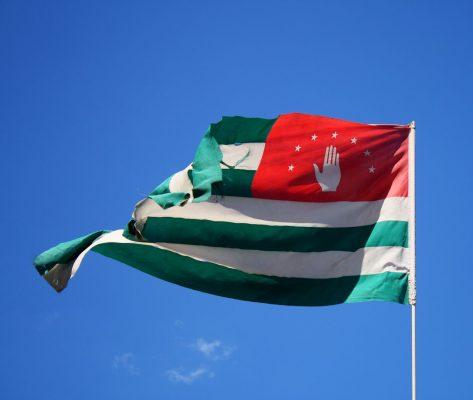 """Flagge der selbst ausgerufenen """"Republik Abchasien"""""""