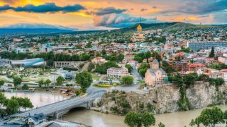 Die georgische Hauptstadt Tiflis