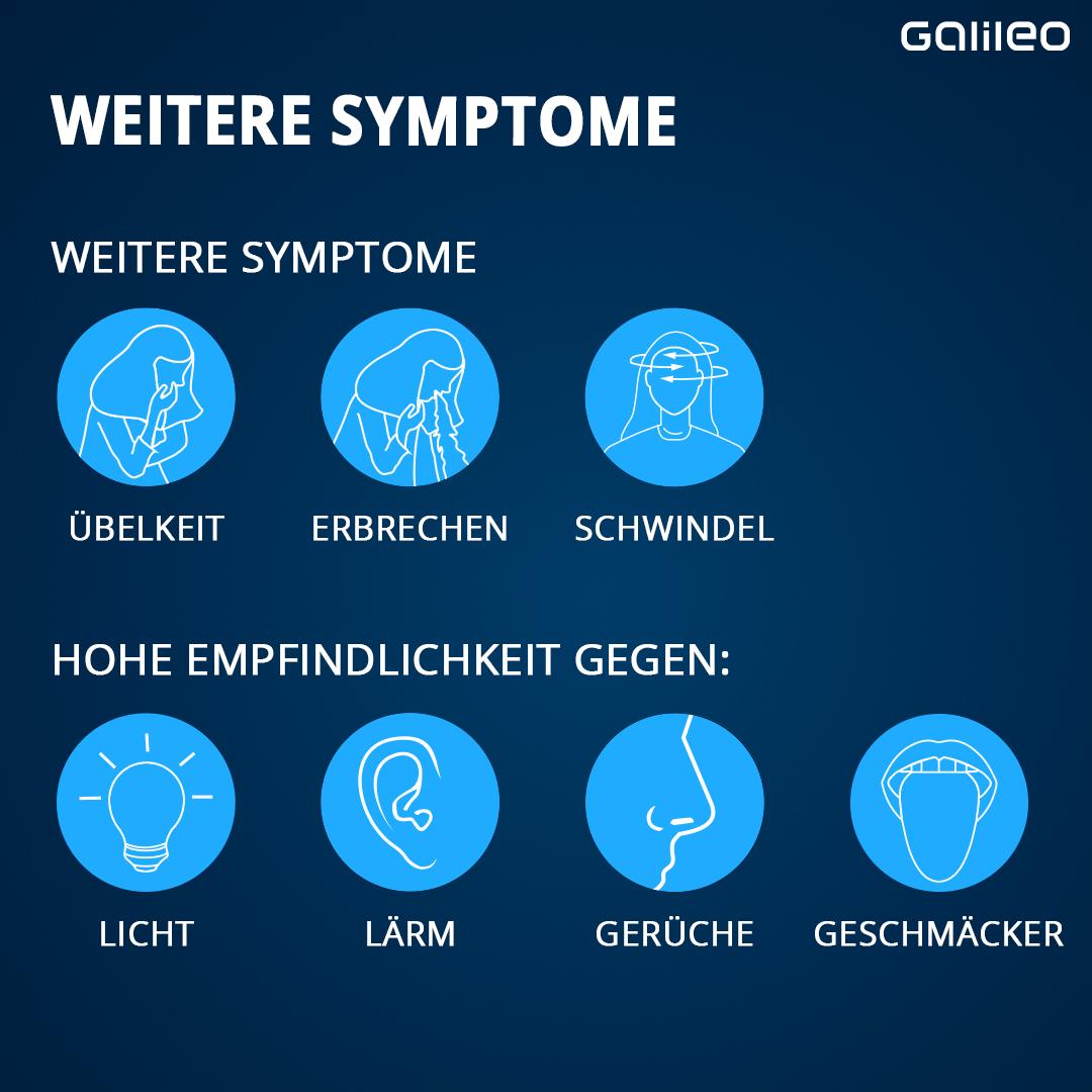 Symptome von Migräne