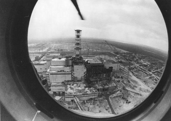Bauarbeiten Reaktorunglück Tschernobyl