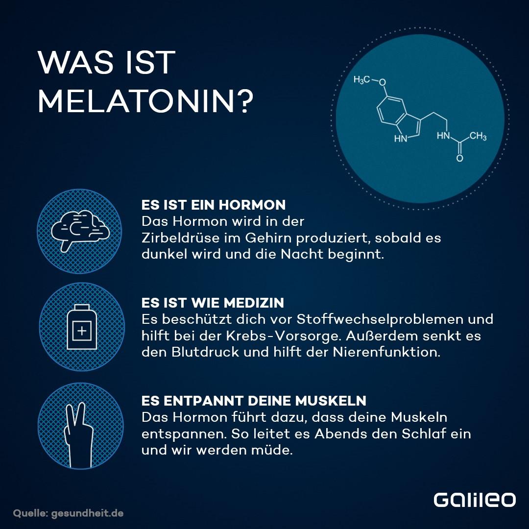Infografik: Was ist Melatonin?