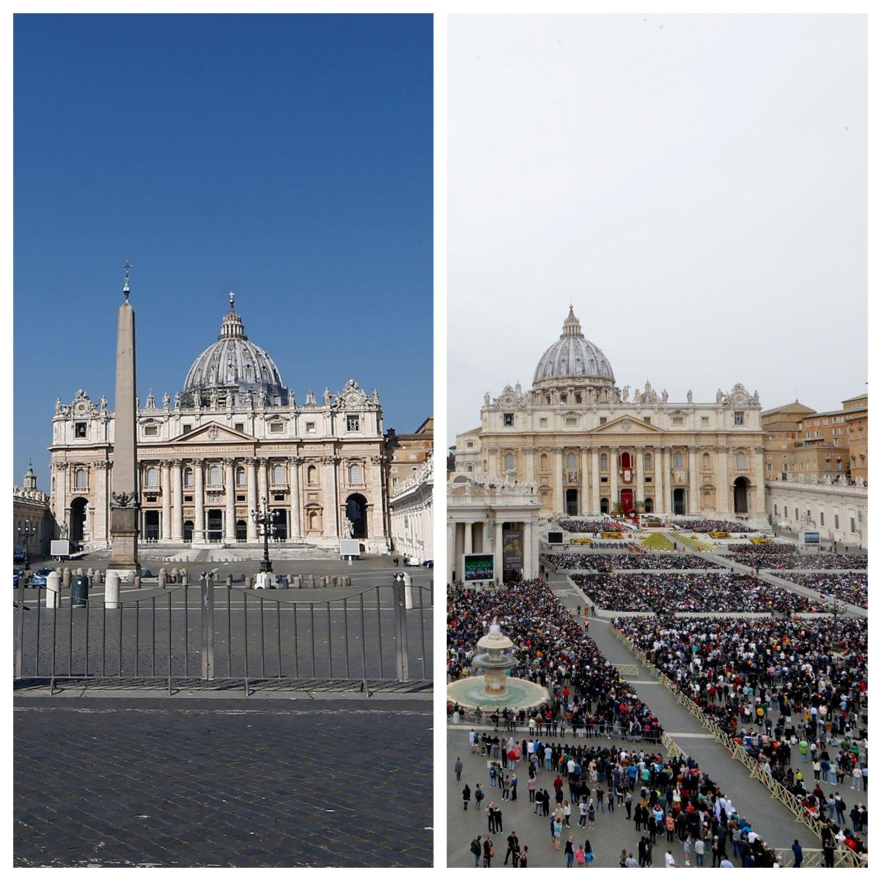 Eigentlich feiert Papst Franziskus die Ostermesse mit Gläubigen auf dem Petersplatz im Vatikan. Aber nicht in diesem Jahr.