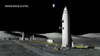 Die Starship von SpaceX auf dem Mond