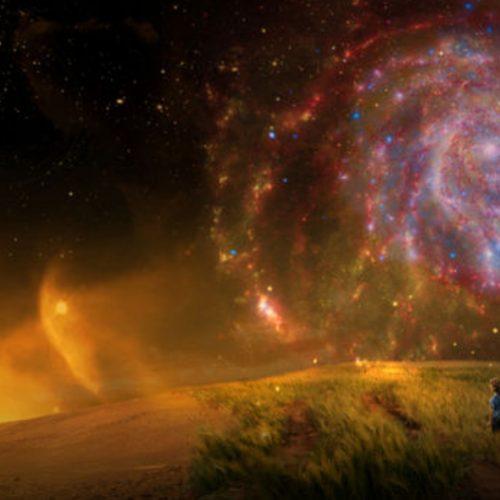 Planet im Weltraum