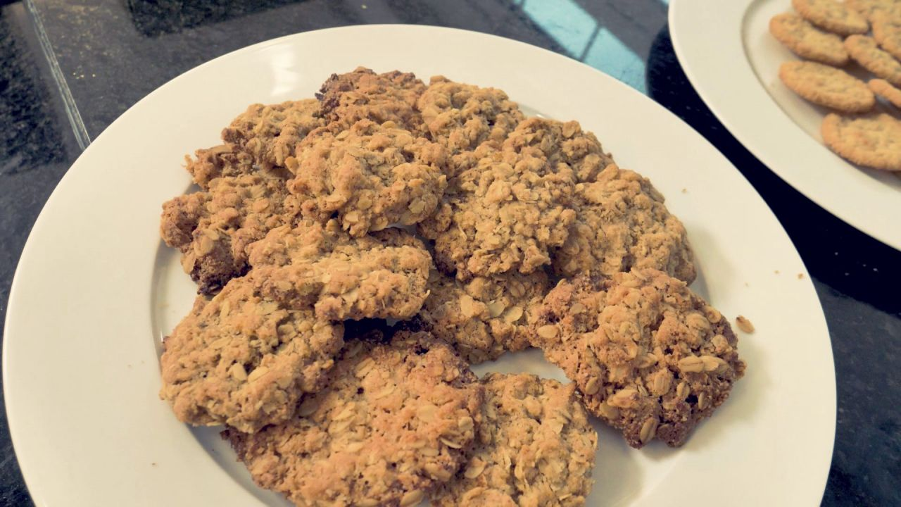 Selbstgemachte Haferflocken-Kekse