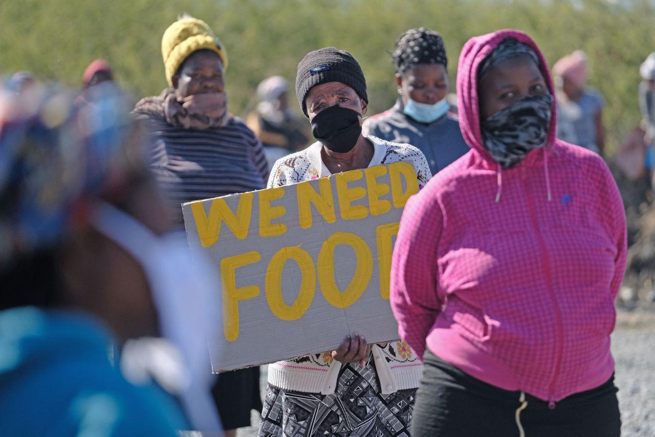 Südafrika Proteste Corona