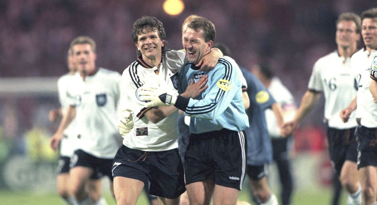 Fussball-Europameisterschaft 1996 Halbfinale Deutschland gegen England