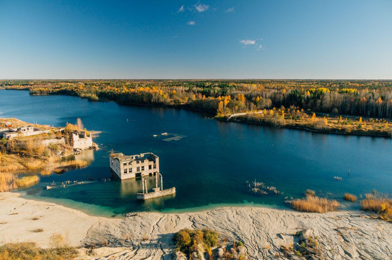 Versunkenes Gefängnis in Estland: Im Sommer baden hier Touristen