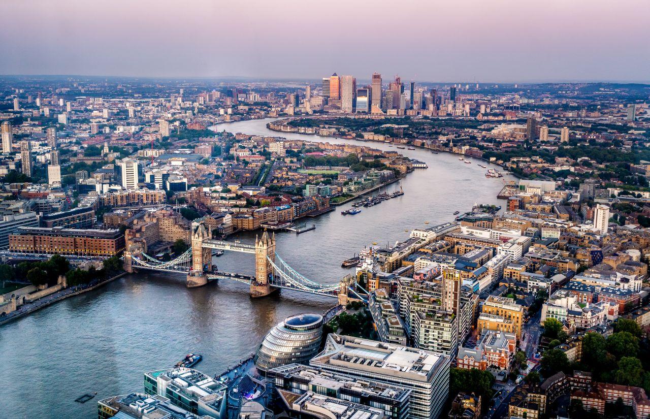Auf dem Bild sieht man die englische Hauptstadt London.