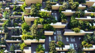 Die Grüne Fassade der vertikalen Gärten sind in Mailand sehr berühmt.